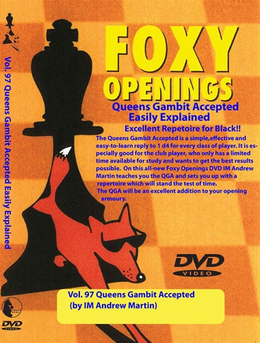 Foxy 97: The Queen's Gambit Accepted for Black - Chess Opening Video DVD