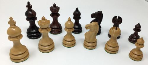 "Grand Taj Chess Pieces with 3.75"" king"