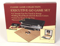Go Game in Black Leatherette Attache