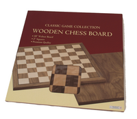 "Walnut and Maple Chess Board, 2"" Squares & Cushioned Corners"