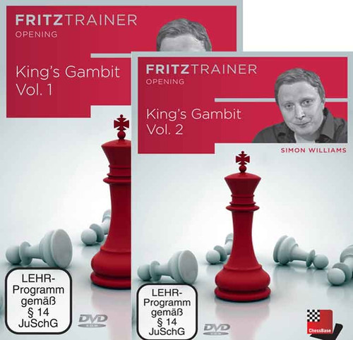 Bundle: The King's Gambit, Vols. 1 & 2 - Chess Opening Trainer on DVD