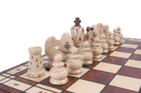 The Svarog - Unique Wood Chess Set with Board and Storage, King 3.5""