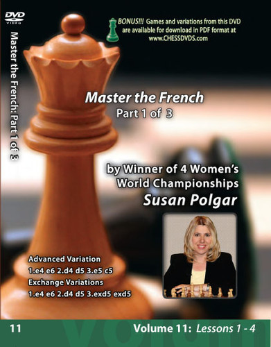 Susan Polgar: Mastering the French Defense (Part 1) - Chess Opening Video DVD