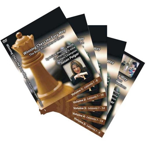 Susan Polgar 10 Volume DVD Set PLUS MasterChess 8000