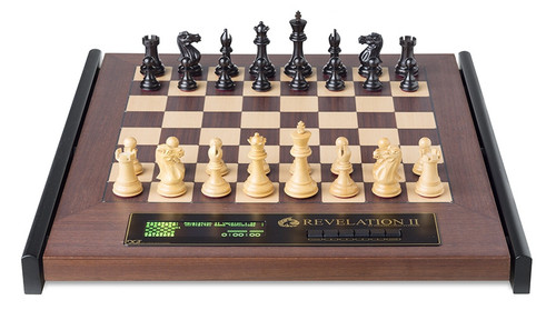 DGT Revelation II E-Board and Chess Computer with Ebony Pieces
