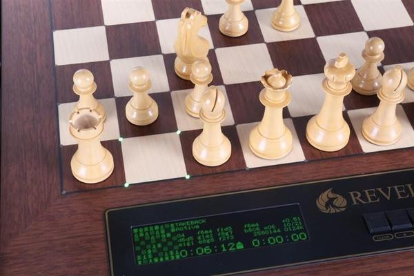 DGT Revelation Anniversary Edition Chess Computer with Ebony Chess Pieces