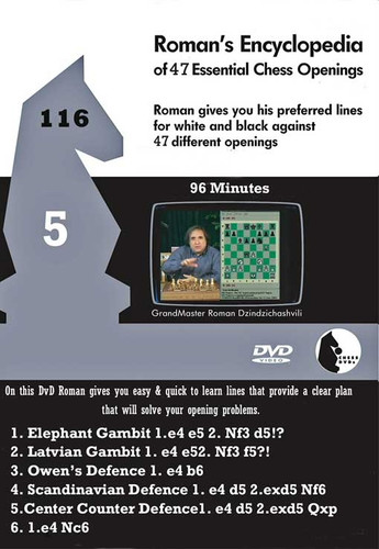 Roman's Lab 116: Encyclopedia of Chess Openings (Vol. 5) - Chess Opening Video DVD