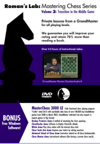 Roman's Chess Labs:  3, Transition to the Middle Game DVD