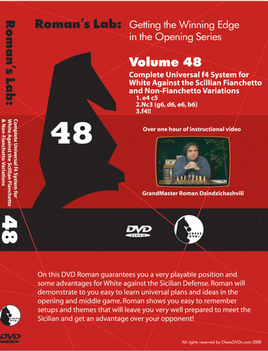 Roman's Lab 48: Universal f4 System vs. the Sicilian Defense - Chess Opening Video DVD