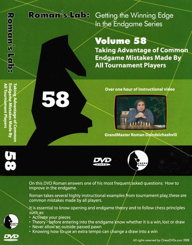 Roman's Chess Labs:  58, Taking Advantage of Common Chess Endgame Mistakes DVD