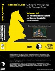 Roman's Lab 65: Sound and Unsound Openings - Chess Opening Video DVD