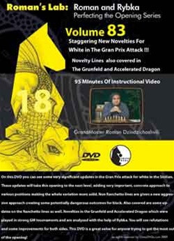 Roman's Lab 83: Novelties for White in the Grand Prix Attack - Chess Opening Video DVD