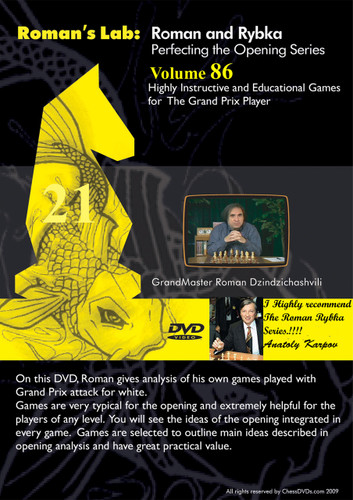 Roman's Lab 86: Instructive Games for the Grand Prix Player - Chess Opening Video DVD