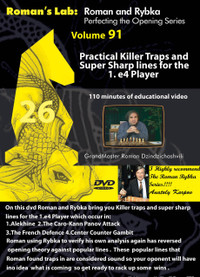 Roman's Lab 91: Killer Traps for the 1.e4 Player - Chess Opening Video DVD