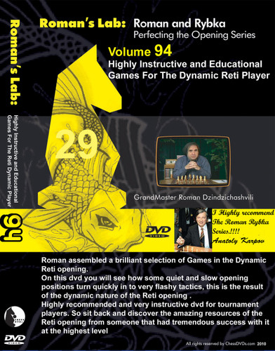 Roman's Lab 94: Instructive Games in the Reti Opening - Chess Opening Video DVD