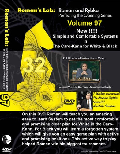 Roman's Lab 97: Simple Systems in the Caro-Kann Defense - Chess Opening Video DVD