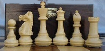 Infinity Chess Set Golden Rosewood Chess Pieces 4""