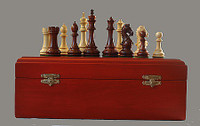 "The Templar Rosewood Chess Pieces with 4.5"" King"