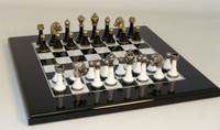 Tuscan Colonnade - Wood and Metal Chess Set