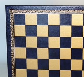Blue & Gold Pressed Leather Board 13""