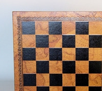 Chess Board Pressed Leather World Map 1.3""