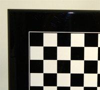 Italian Laquered Black Chess Board 1.4""