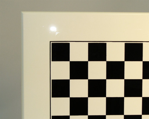 Italian Laquered White Chess Board 1.4""