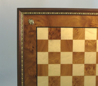 Medallion - Elm Chess Board with Metal Trim