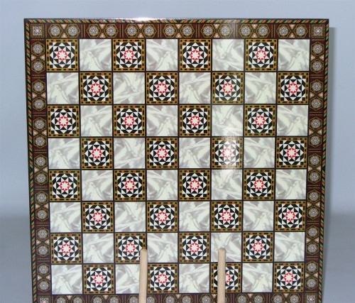 Elegant Decoupage Chess Board 1.5""