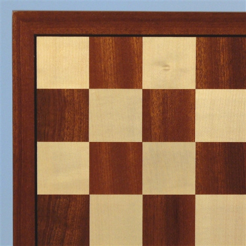 Sapele and Maple Chess Board 1.75""