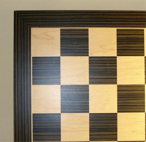 Ebony and Maple Chess Board