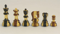 Carreaux Chess Set-Inlaid Golden Rosewood and Ebony