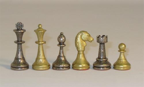 Treviso Petite Chess Set-Staunton Design, Metal