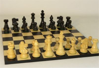 Noir Elegant Chess Set - Chess Pieces and Matching Chess Board