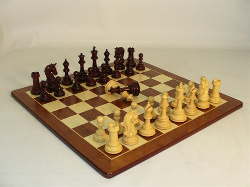 Parthenon Bud Rosewood Chess Set - Chess Pieces with Matching Chess Board