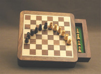 Portable Book-style Magnetic Chess Set - Chess Pieces and Matching Chess Board