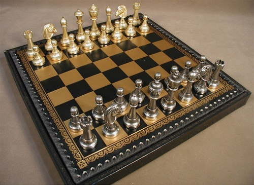 Treviso Refinement Chess Set - Chess Pieces and Matching Chess Board Chest