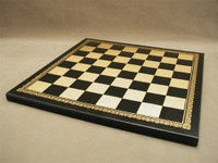 """Chess Board Pressed Leather on Wood 1.25"""""""