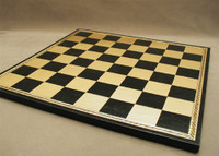 Chess Board Pressed Leather on Wood 1.75""