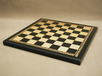 Chess Board Pressed Leather on Wood 1""