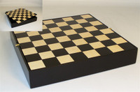 "Black and Maple 12"" Chess Board with Chess Pieces Storage"