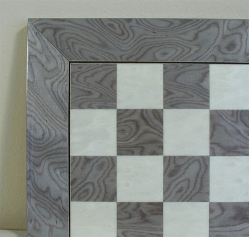 """Grey Briar and Ivory Glossy Chess Board, 1.5"""" Squares ww1-45440GY"""