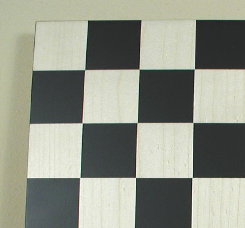 """Black and Maple Chess Board, 2"""" squares"""