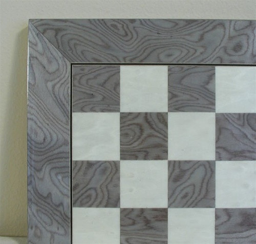"Grey Briar and Ivory Glossy Chess Board, 2 3/8"" squares"