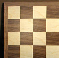"Walnut and Maple Chess Board, 1.5"" square"