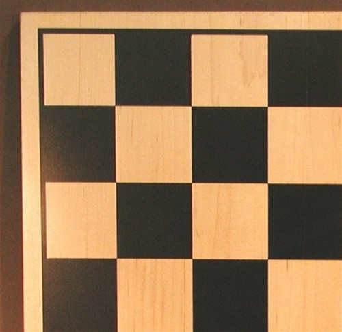 "Walnut and Maple Chess Board, 1.75"" square"