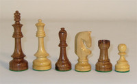 Traditional Russian Sheesham and Boxwood Wood Chess Pieces 4.25""