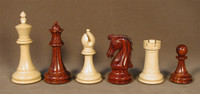 """Chetak Bud Rosewood and Boxwood Wood Chess Pieces 4.25"""""""