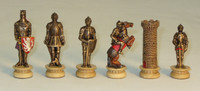 Medieval Knights in Armor Chess Pieces