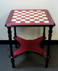 Chess Table Briarwood Wine Lacquered
